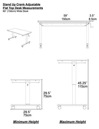 Höhenverstellbarer Schreibtisch (Rahmen schwarz / Hochglanzdeckel schwarz, Schreibtisch Länge: 150cm) -
