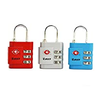 Orei OREI TSA Approved Luggage Locks Set - Combination Travel Lock Quality (3 Pack)