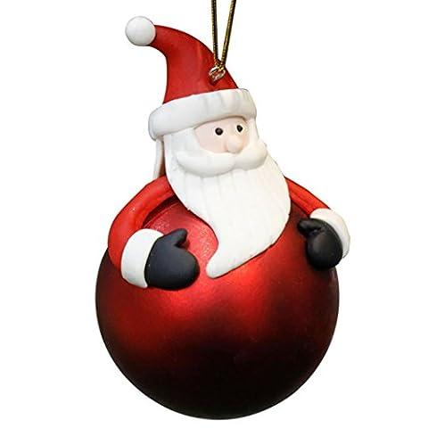 HUHU833 Weihnachts Dekorationen Sankt Schneemann Anhänger Ornamente Baum Bälle Verzierung Party und Haus Dekoration Geschenk (B)