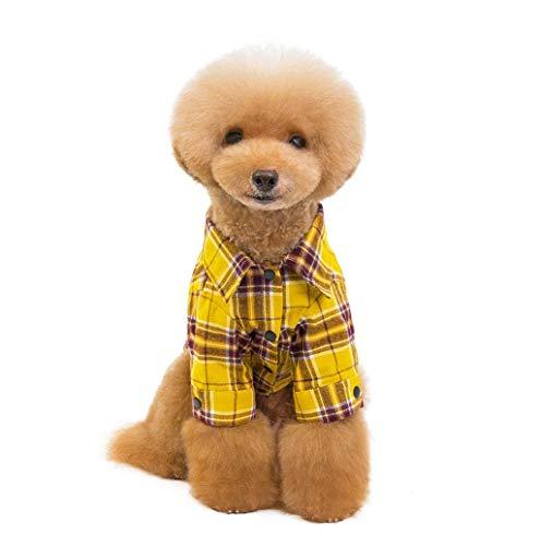 Kostüm Boxer Niedliche Hunde - Hundekleidung Katzenbekleidung Shirts für Hunde Katzen Haustier Niedlicher Warm Hunde Kleider Kariertes Welpen-Kostüm Haustier Mantel Jacke Coat TWBB
