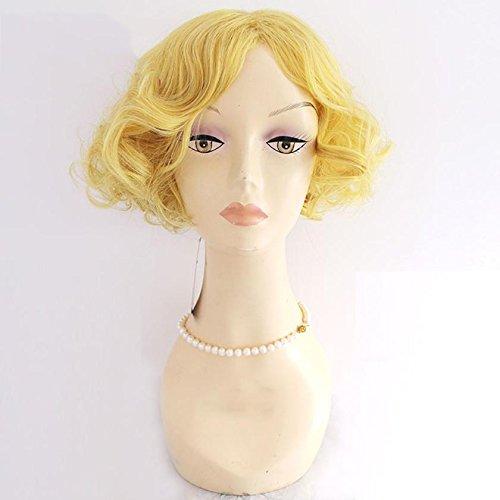 DZW Erwachsene Frauen Marilyn Monroe Bombshell Perücke, One Size-25CM , golden hair (Erwachsene Kostüme Oompa Loompa)