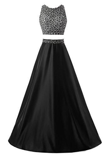 Callmelady Deux Pièces Robe de Soirée Femme 2017 Fête & Cocktail Party Noir