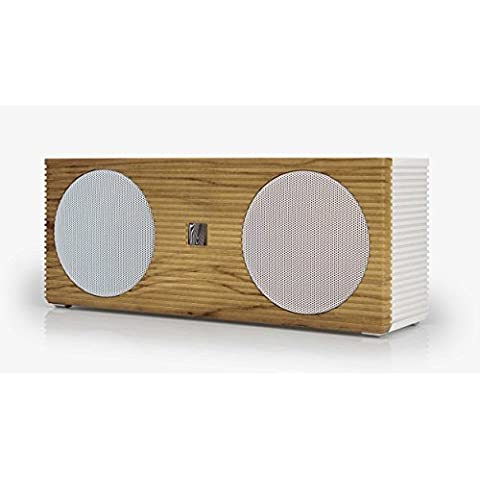 SoundFreaq Double Spot, White/Wood-Altoparlante portatile Bluetooth