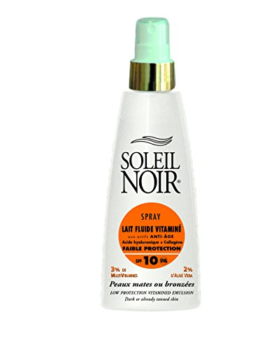 SOLEIL NOIR 34 Spray Lait Fluide Vitaminé 10 Protection Faible