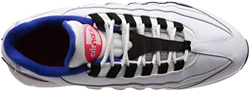 Nike Air Max 95 Essential, Chaussures de Gymnastique Homme Multicolore (White/black/solar Red/ultramar 106)