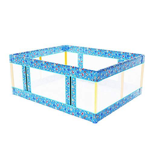 WYQ Laufgitter Baby-Zaun-Spielplatz, großer Baby-Laufstall für Bett und Boden, Sicherheits-Spielplatz für Babys und Kinder (Blau, Pink, Hellblau) Laufstall (Farbe : Blau, größe : 176×196x70cm)