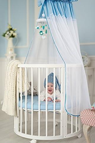 ComfortBaby ® erweiterbares Babybett Kinderbett SmartGrow 7in1 aus MASSIVHOLZ in