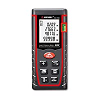 SNDWAY Laser Distance Measure SW-T60 Digital Laser Rangefinder 60M Distance Meter Tape Measure Area Volume with Bubble Level and LCD 4 Line Display