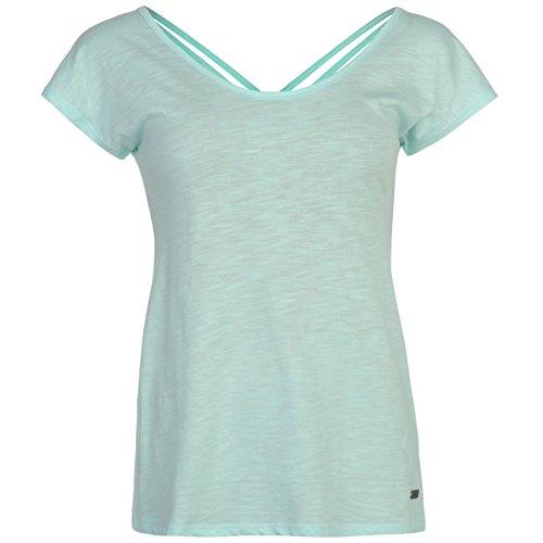 Lee Cooper Donna X Back Tee T-Shirt da donna a maniche corte Top Mode Mode Blu 1 Large