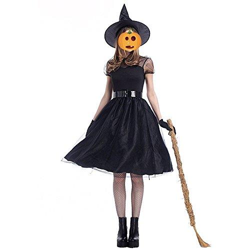 Halloween Schleier Hexe Kleid Cosplay Temperament Hexe Nacht Geist Spiel Anzug Festival / Halloween / Weihnachten, M (Sexy Halloween Arzt)