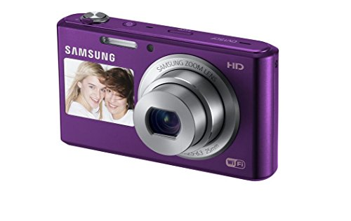 Samsung Dv150f 16.2mp Smart Wifi Digital Camera With 5x Optical Zoom And 2.7-inch Front And 1.5-inch Rear Dual Lcd Screen (purple), 4gb Card, Camera Case With Free Samsung Backpack