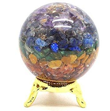 Chip Vac (Heilung Kristalle Indien®: natur Edelstein Ball Halbedelstein Chakra Orgonite Reiki Pyramide Feng Shui Reiki heilende Energie geladen Stein Chips 50–60mm Kostenloser Versand)
