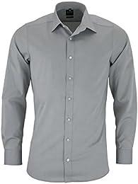 suchergebnis auf amazon de f�r silber hemden tops, t shirts  olymp herren hemd level 5 body fit langarm