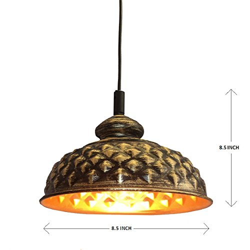 Design Villa Gold Color Iron Hanging Lamp