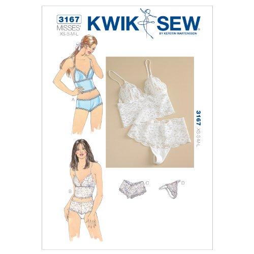 Kwik Sew 3167 - Patrones de costura para confeccionar ropa interior de...