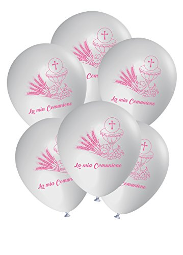ocballoons® Luftballons Kommunion Dekorationen Dekorationen Party Helium Party Pink 25tlg.