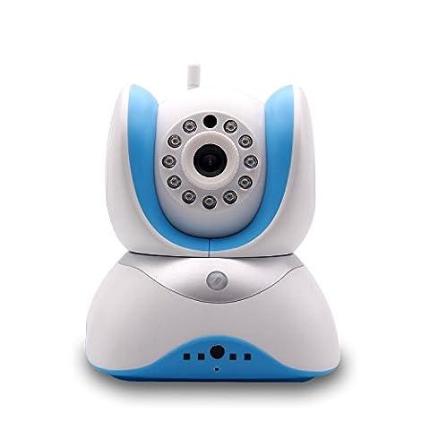 Wellbyuse - IP Kamera Innen / IP Kamera Indoor - IP Kamera Infrarot / Two-Way Audio 3.6mm Objektiv / 720P,Mobile Erkennung / Wireless Alarm 3D Echo Rauschunterdrückung / Zwei-Wege-Stimme,Ring Alert