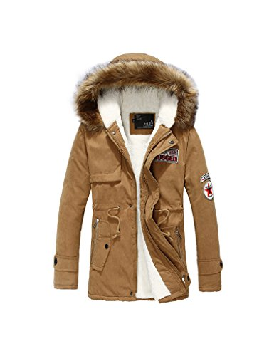 Zacoo Herren Trench Coat Winterjacke Windjacke Outwear