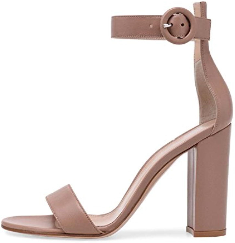 875b40c7c0c306 lff.ff femmes est est est épais de talons hauts sandales mot groupe open  toe d'épaisseur avec boucle dîner chaussures chaussures  fashion...b07fhz8857 parent ...