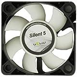 GELID Ventilateur pour boîtier PC SILENT 5 à roulements HBD 3 broches Molex CE RoHS 12V 4000tours/min 23dBA 50 x 50 x 15mm