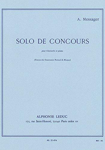 SOLO DE CONCOURS CLARINETTE SIB ET PIANO