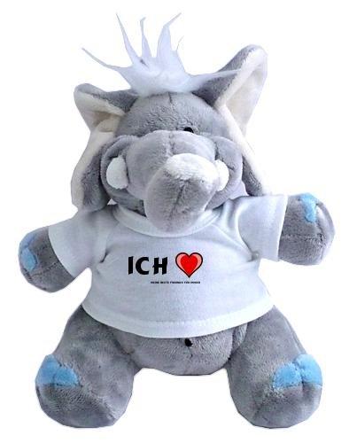 Elefant Plüschtier mit Ich Liebe meine beste Freunde für immer T-Shirt