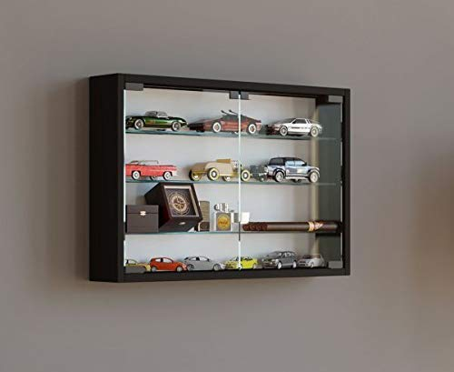 Vcm mandosa m vetrina a parete, legno, nero, 40x 60x 10cm