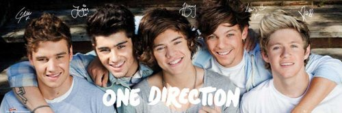 empireposter - One Direction - Group - Größe (cm), ca. 91,5x30,5 - Slim-Poster, NEU - (Poster Night Up One All Direction)