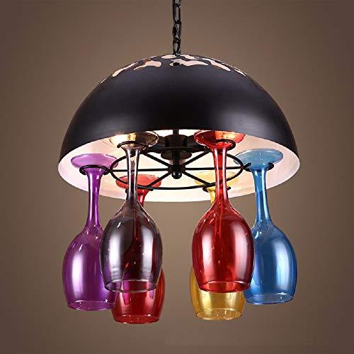 Ai deng lampada da soffitto in vetro ferro battuto in vetro retrò lampadario industriale da bar tavolo ristorante ristorante lampade sospese lampada a sospensione decorativa antica e14