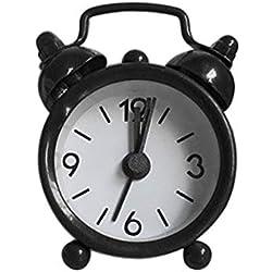 Alaso Réveil en Ligne,Reveil Matin,Réveil de Voyage, Petit Creative Mignon Mini métal Réveil électronique Petit réveil Horloge de Chevet Réveil Enfant
