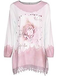 Blusa camiseta tops para mujer Otoño,Sonnena Mujer Blusa manga larga con estampado floral y botonadura talla grande casual traje de urbano estilo fiesta citas al aire libre