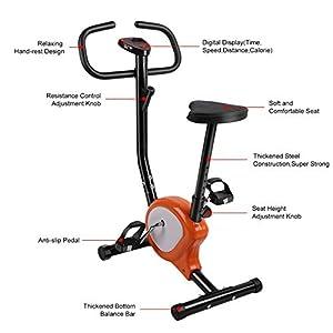 Gusaman Fitnessfahrrad Heimtrainer Fitnessbike Trimmrad Hometrainer Ergometer...