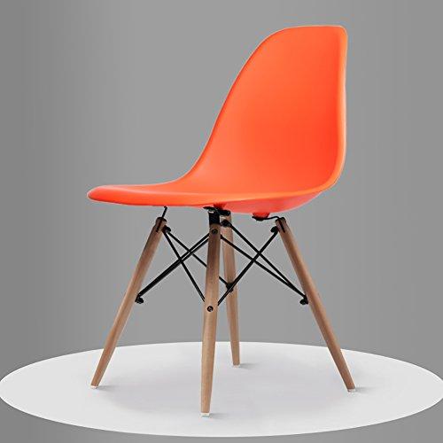 GY Chair - - Fauteuil Minimaliste Moderne, Salon, Bureau, Salle à Manger, Banquette arrière Confortable (Taille 82.5X40X40 cm) /+-+/ (Couleur : Orange)