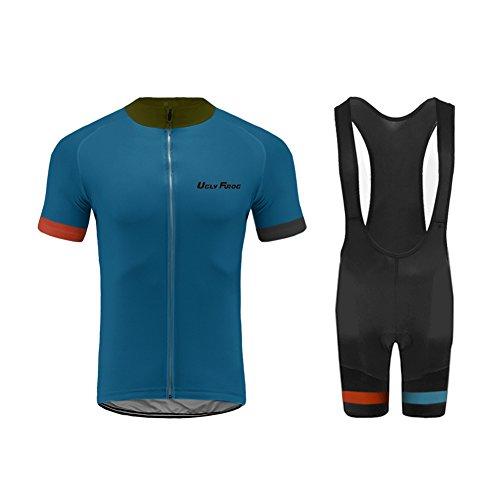 Uglyfrog 2017 Fahrrad Trikot Bike Jersey+ Shorts atmungsaktiv Reiten Jacke Hose für Outdoor Radfahren DXHB16