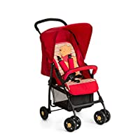 Hauck Disney Baby Sport Lightweight From Birth Pushchair, Pooh Spring Bright, Red