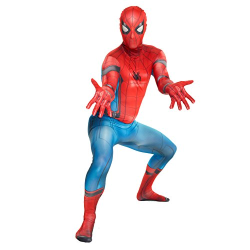 Morphsuits MLSPHL - Offizieller Spiderman Homecoming, Verkleidung, Kostüm - Large 5'3 - 5'9 (159cm - 175cm) (3 Man Kostüm Spider)