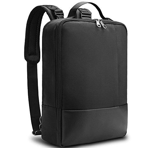 3-in-1 Notebook-Rucksack, T-Antrix geeignet für Laptops bis zu 15,6 Zoll, Wasserdicht Stossfest Business Freizeit-Rucksack Universal 3-in-1 Umwandelbar Rucksack Umhaengetasche Tragetasche, Schwarz (Nylon-17-notebook-tragetasche)