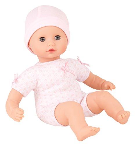 Götz 1320590 Muffin to Dress Mädchen Puppe - 33 cm große Babypuppe mit blauen Schlafaugen, ohne Haare mit Mütze - Weichkörper-Puppe ab 18 Monaten - 18 Puppen Für Mädchen