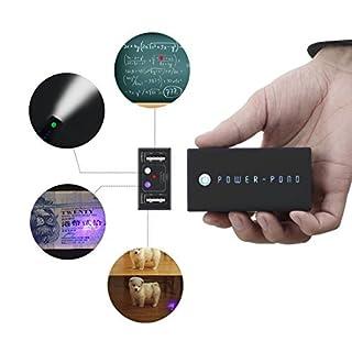 a-nam Infrarot Presenter Power Bank 6000mAh 10LED Power Display und Smile patentiertes Design tragbares Ladegerät 4in1Multifunktions-externer Akku für iPhone 7/7plus, Galaxy S7/S7Edge und mehr (schwarz)