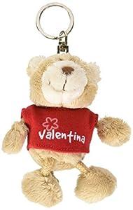 NICI n15846-Llavero Oso con Camiseta Valentina, Rojo