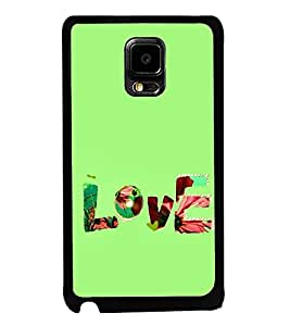 FUSON Love Fabric Text Designer Back Case Cover for Samsung Galaxy Note Edge :: Samsung Galaxy Note Edge N915Fy N915A N915T N915K/N915L/N915S N915G N915D