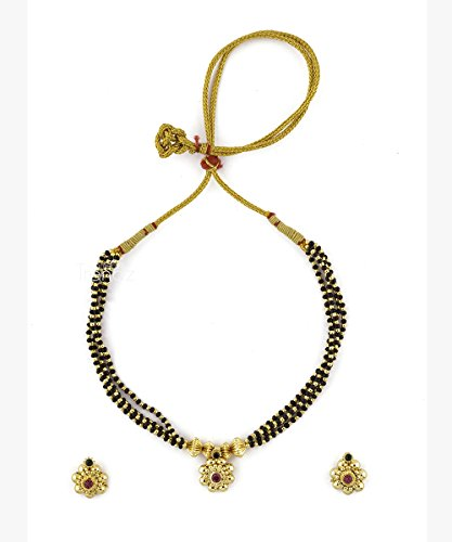 Womens Trendz Jhondhala Poat Saaj Ghat24K Gold Plated Alloy Mangalsutra and Earring Set  available at amazon for Rs.560