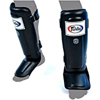 Fairtex Double Padded Shin Guards - Black Large