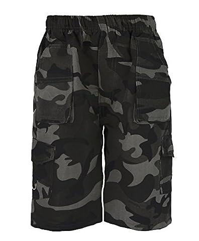 RageIT - Short Bermuda Garçon Poche Multiple Imprimé Camouflage & Uni Treillis Combat Militaire Armée - translation, original, translation, original