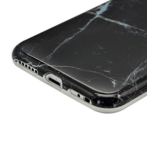 Coque pour iPhone 6s, Sunroyal® Coque Etui Housse iPhone 6 Motif Marbre TPU Silicone Doux Case Ultra Mince Souple Marble Effect Back Cover Couvrir Skin Portable de Protection Shock Absorption Bumper p Marbre 33