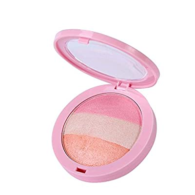 ROPALIA 4 Colors Shimmer Blush Professional Sleek Blusher Powder Makeup Palette from ROPALIA