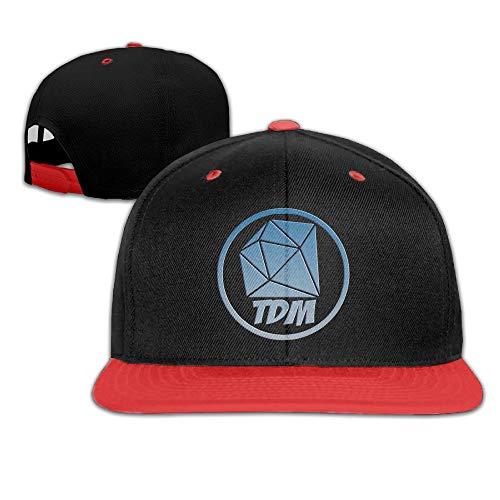 Nifdhkw Das Diamond Minecart DAN TDM Logo Kinder Jungen Mädchen Hüte Caps ()