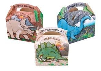 Kinder-Picknick-Boxen mit Dinosaurier-Motiven, für Essen, Geburtstag oder als Mitbringsel, 10 Stück (Geburtstag Essen)