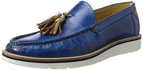 Melvin & Hamilton Jack 7, Mocassins Homme Blau (Classic Bluette (1, 2, 3), Sand (4)/ Tassel Sand Rp-02 White)