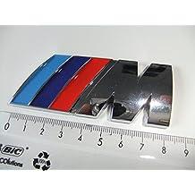 BMW Car Fashion - Insignia trasera para coche BMW M Sport (acabado cromado para M3 M5 M6 E46 E36 E90 E92 E39 E60 E87 M POWER)